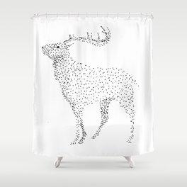 Deer dots Shower Curtain