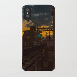 Tokyo Nights / Sunset over Fuji / Liam Wong iPhone Case