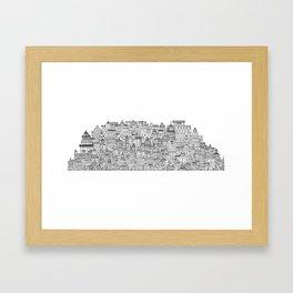 The Long Town  Framed Art Print