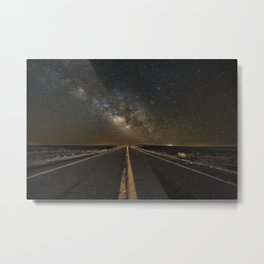Go Beyond - Road Leads Into Milky Way Galaxy Metal Print