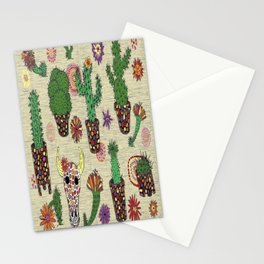 mosaic cactus plant pots Stationery Cards