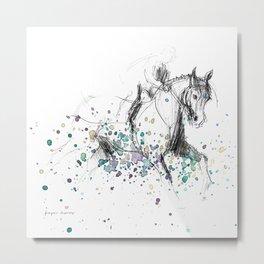 Horse (Rainy canter) Metal Print