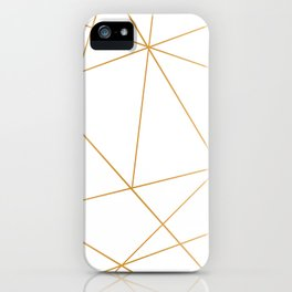 geometric gold and white iPhone Case