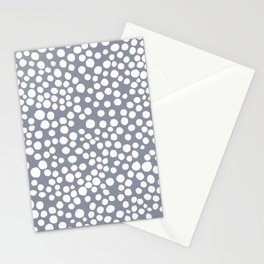 Random Dots in Blue Seamless Pattern Stationery Cards