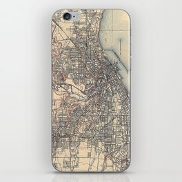Vintage Map of Cleveland (1904)  iPhone Skin