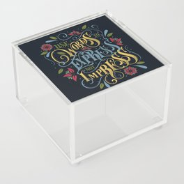 Use Words to Express not Impress - colour Acrylic Box