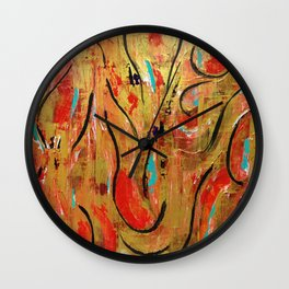 Gold Dancer Wall Clock