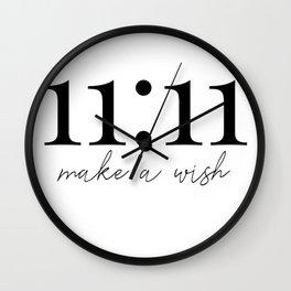 11:11 make a wish Wall Clock