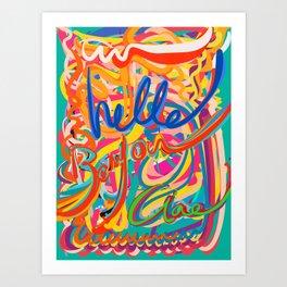 Hello Bonjour Ciao Graffiti Street Doodle Colorful Writing Art Print