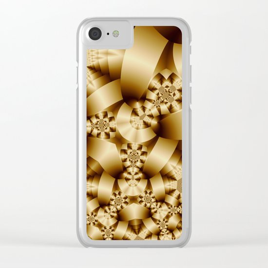 Golden shapes and patetrns in 3-D Clear iPhone Case
