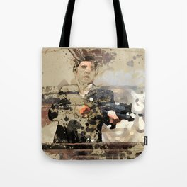 Tony Montana paint art Tote Bag