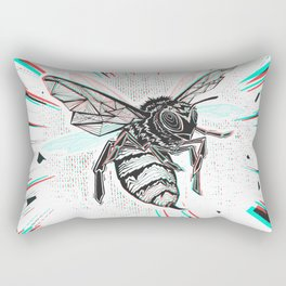This wasp is pissed! Rectangular Pillow