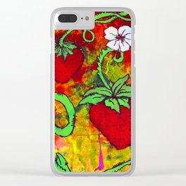 Strawberry Patch Clear iPhone Case