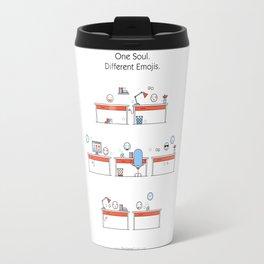 One Soul. Different Emojis. Travel Mug