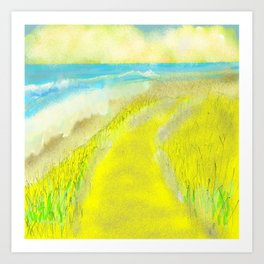 Yellow and Bright Oceanfront Art Print