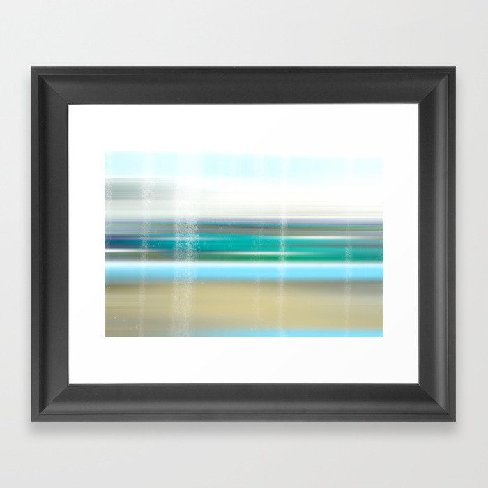 view to the breakers Framed Art Print