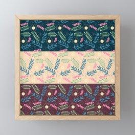 Floral Pattern- Namaste Monday Framed Mini Art Print