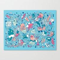 bubble Canvas Prints featuring bubble by Anukun Hamala (NHD)