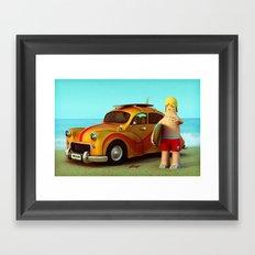 Surf Dude Framed Art Print