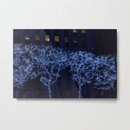 Tree Lights Metal Print