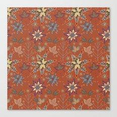 Snowflake Folk Pattern Canvas Print