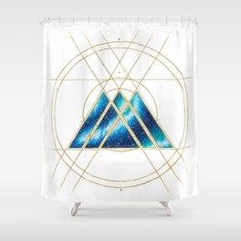 Nebula Warlock Sigil Shower Curtain