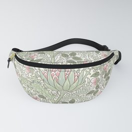 William Morris Pastel Pink Thistle Pattern Fanny Pack