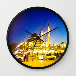 Night city. Wall Clock