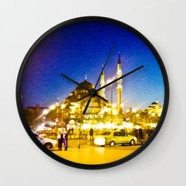 Night city. Wall Clock
