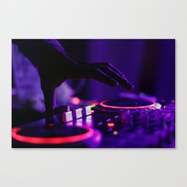 DJ Slapping The Decks Canvas Print