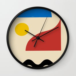 Abstract minimal landscape Wall Clock