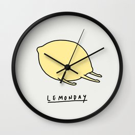 Lemonday Wall Clock