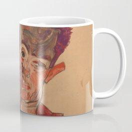 """Egon Schiele """"Self-Portrait with Eyelid Pulled Down"""" Coffee Mug"""