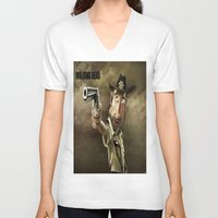 rick grimes V-neck T-shirts featuring The Walking Dead | Rick Grimes by AnkitS