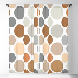 Earth Tone Circlular Abstract Blackout Curtain