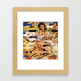 Glitch Pin-Up Redux: Vanessa Framed Art Print