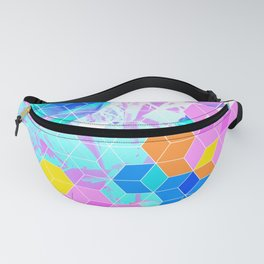 Pop Floral Cube Pattern 1 #fashion #pattern #lifestyle Fanny Pack
