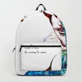 Graffitied Shakespeare Backpack