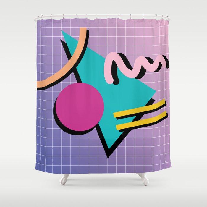 Memphis Pattern 10 - 90s - Retro Shower Curtain