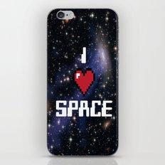 I Heart Space Retro Galaxy iPhone & iPod Skin