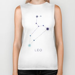 LEO STAR CONSTELLATION ZODIAC SIGN Biker Tank
