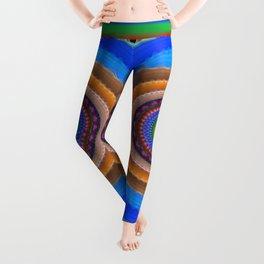 Colourful mandala with tribal patterns Leggings