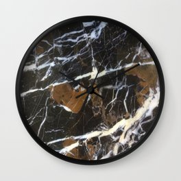 Stylish Polished Black Marble Wall Clock