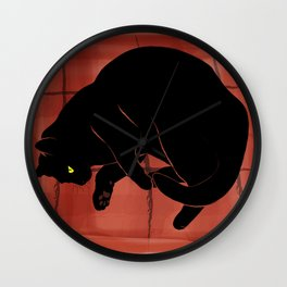 Olivia, the cat on the porch Wall Clock