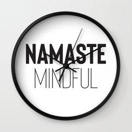 Namaste Mindful Wall Clock