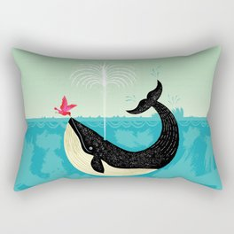 The Bird and The Whale Rectangular Pillow