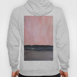 Abstract modern pink grey charcoal Hoody