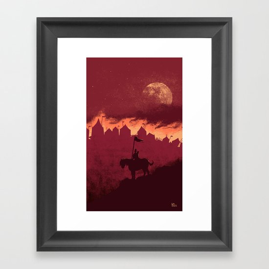 A Rather Dramatic Point in a Story Framed Art Print
