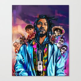 Miguel and Coco Painting Canvas Print
