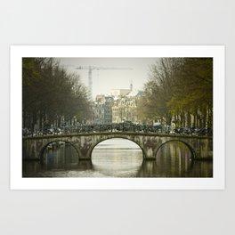 Bike Bridge Amsterdam Art Print